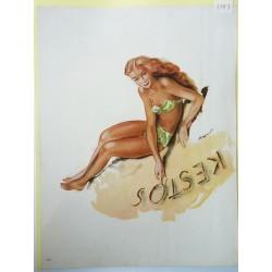 Ancienne publicité originale couleur Kestos de Brenot 1947