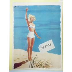 Ancienne publicité originale couleur Kestos de Seigle 1949