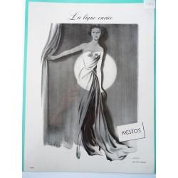 Ancienne publicité originale noir & blanc Kestos de Langlais 1949