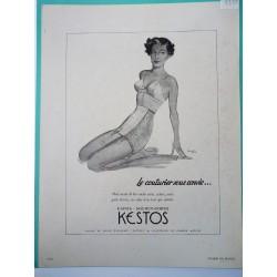 Ancienne publicité originale noir&blanc Kestos de Langlais 1951