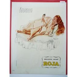 Ancienne publicité originale couleur pour la brillantine Roja de Brenot 1947