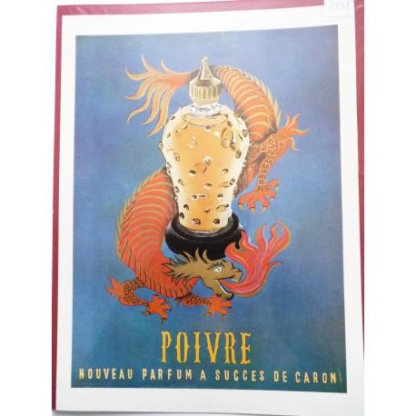 Ancienne publicité originale couleur Poivre de Caron 1954