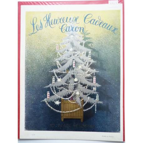 Ancienne publicité originale couleur Les Heureux Cadeaux de Caron 1953