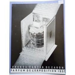 Ancienne publicité originale noir & blanc French Cancan de Caron 1937