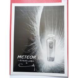 Ancienne publicité originale noir & blanc Meteor de Coty 1951