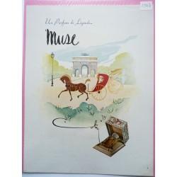 Ancienne publicité originale couleur Muse de Coty de Delaunay 1947