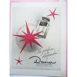 Ancienne publicité originale Tabu de Dana  Illustration de Facon Marrec 1947