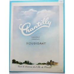 Ancienne publicité originale couleur Chantilly de Houbigant 1949