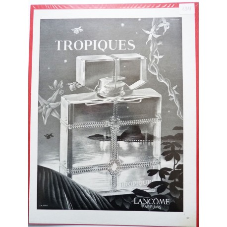 Ancienne publicité originale noir & blanc Tropiques de Lancôme 1948