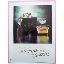 Ancienne publicité originale couleur Dark Brilliance de Lenthéric 1947