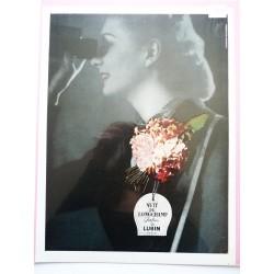 Ancienne publicité originale couleur Nuit de Longchamp de Lubin 1947