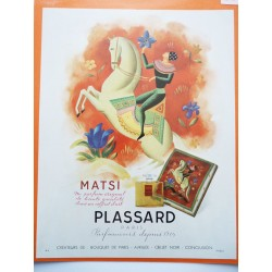 Ancienne publicité originale couleur Matsi de Plassard 1949