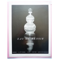 Ancienne publicité originale noir & blanc Eau de Renoir 1953
