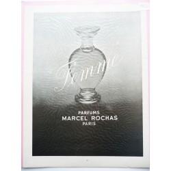 Ancienne publicité originale noir & blanc Femme de Rochas 1952